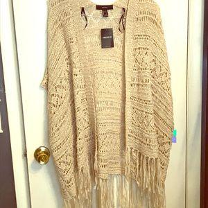 Forever 21 crochet cardigan